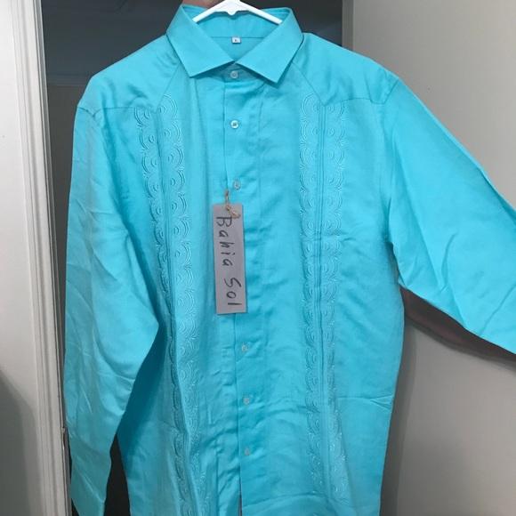 Tiffany Blue Men's Dress Shirt